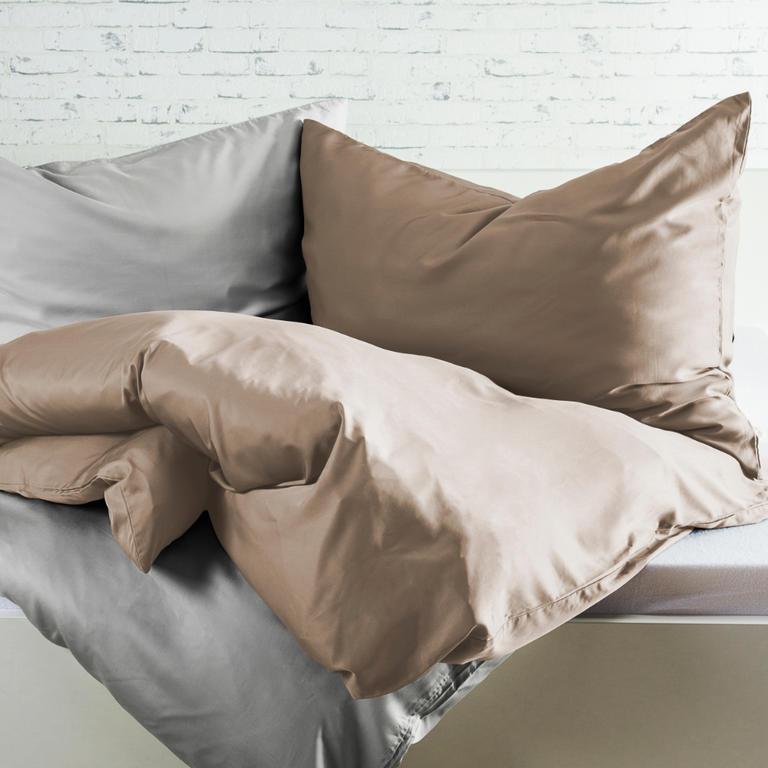 Bambusové posteľné obliečky orieškové