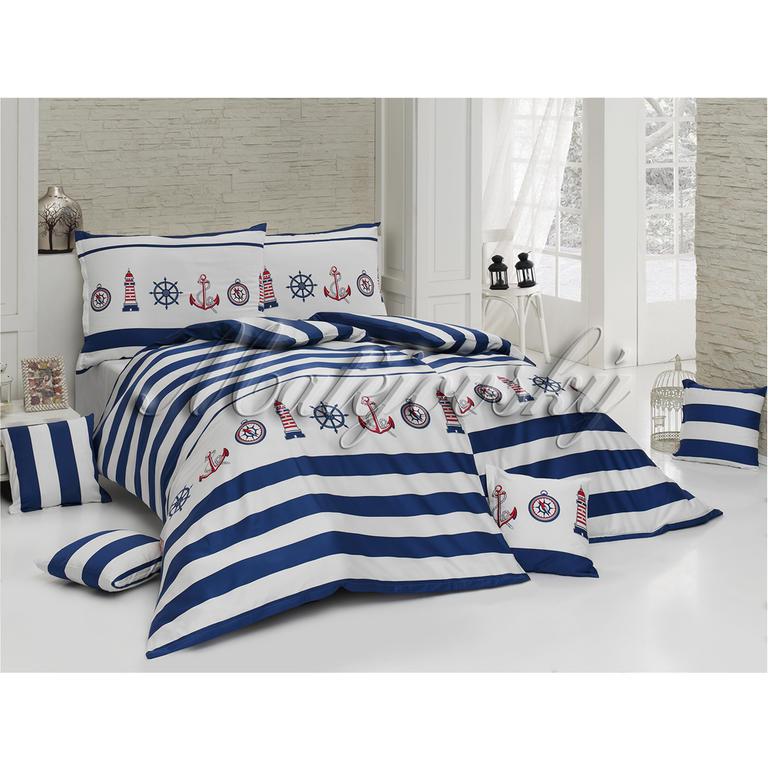 Matějovský krepové posteľné obliečky MARINE štandardná dĺžka