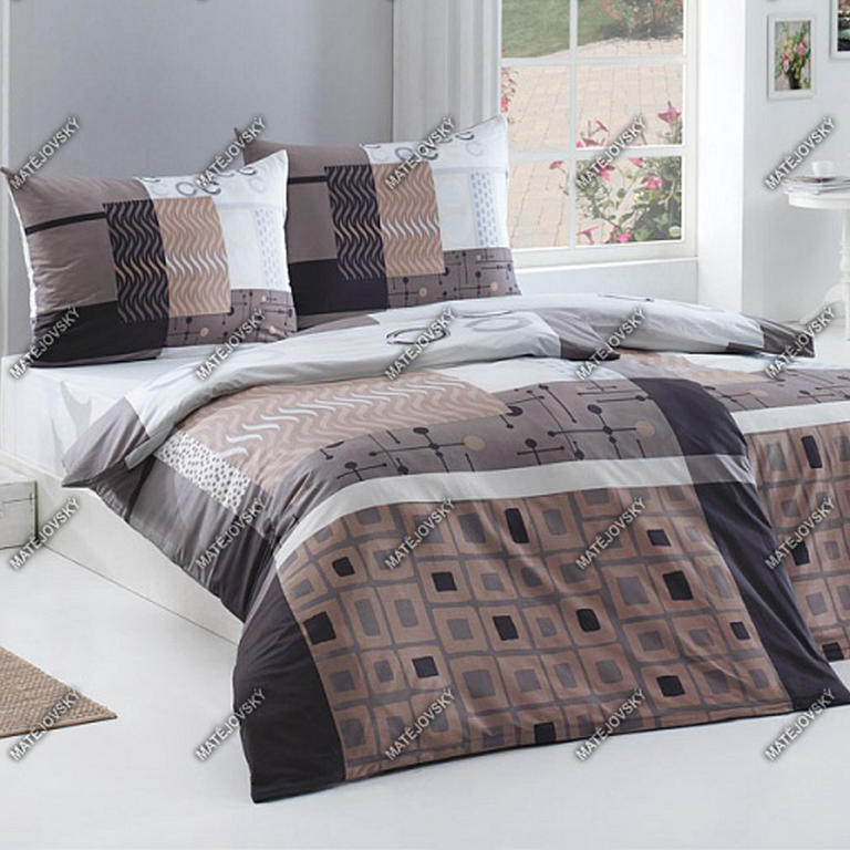 Matějovský posteľné obliečky Nomine hnedá bavlna predĺžená dĺžka