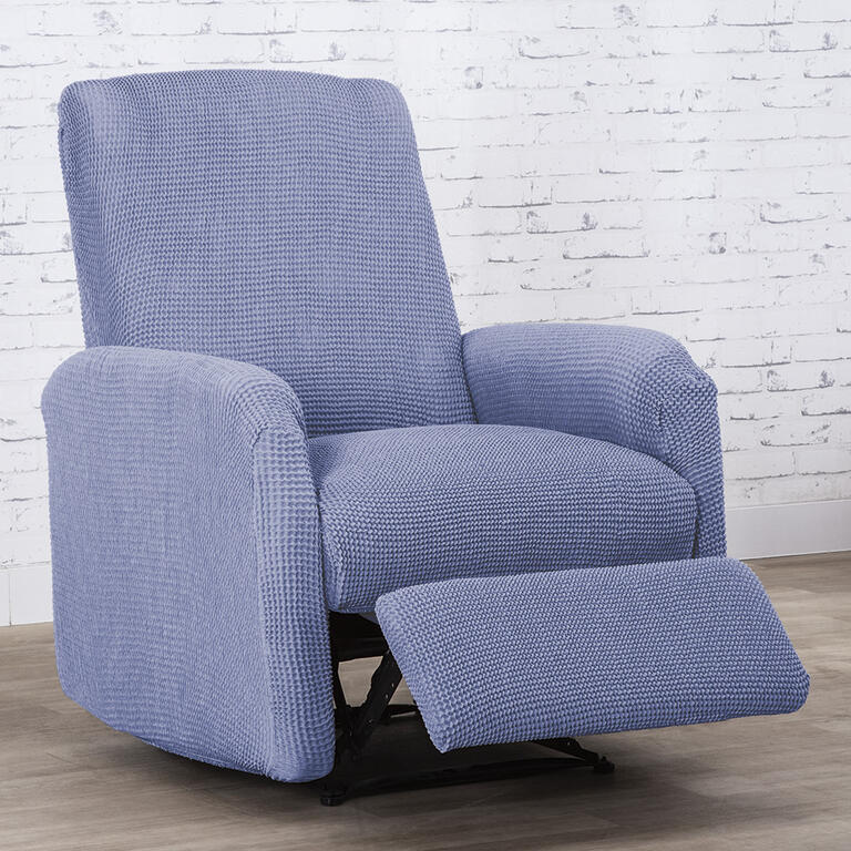 Super strečové poťahy NIAGARA modrá relaxačné kreslo (š. 70 - 90 cm)