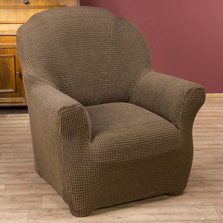 Super strečové poťahy GLAMOUR tabaková rohová sedačka (š. 350 - 530 cm) - 2