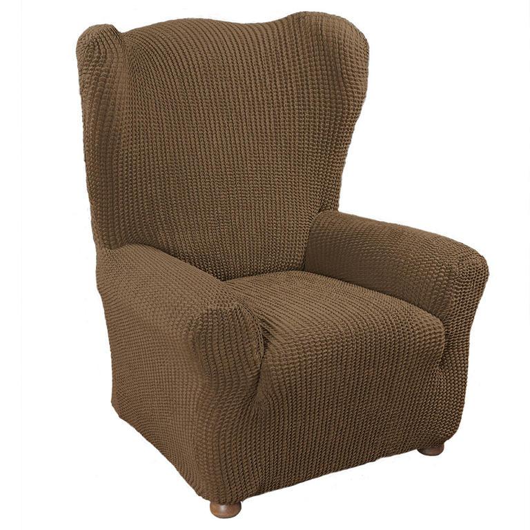 Super strečové poťahy GLAMOUR tabaková rohová sedačka (š. 350 - 530 cm) - 3