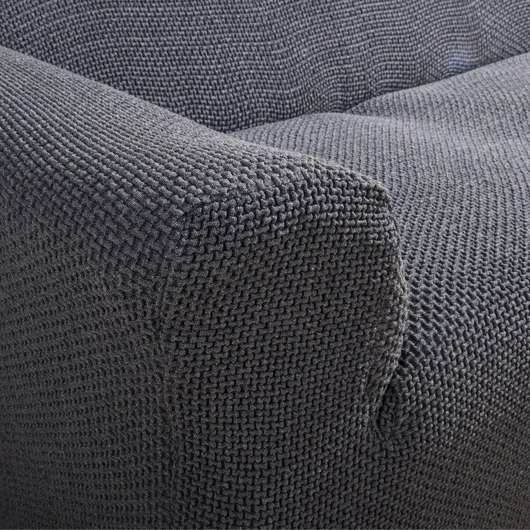 Multielastické poťahy Carla šedé kreslo s drevenými rúčkami (š. 60 - 80 cm) - 3