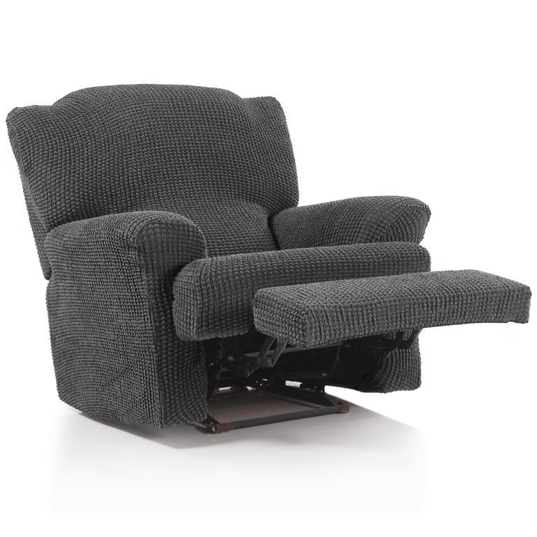 Super strečové poťahy GLAMOUR šedá relaxačné kreslo (š. 70 - 90 cm) - 3
