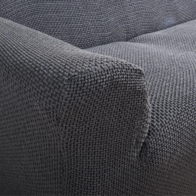 Multielastické poťahy Carla šedé kreslo s drevenými rúčkami (š. 60 - 80 cm) - 7