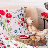 Kvetinová spálňa a lievance do rúry